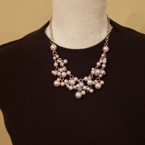 NEW Paparazzi Light Grey Pearl Necklace w/Earrings